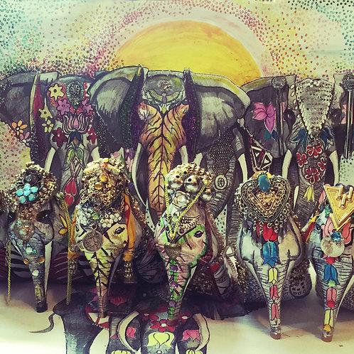 Elephant Festival Heels - Glam3
