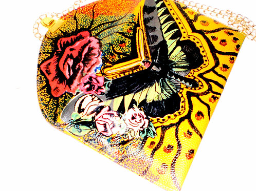 African Moth/ Handbag Envelope Clutch