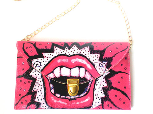 Who Laughs Last/ Handbag Envelope Clutch