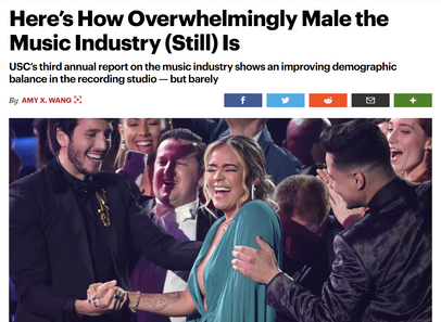 Here's How Overwhelmingly Male the Music Industry (Still) Is