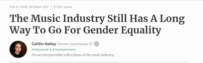 The Music Industry Still Has A Long Way To Go For Gender Equality