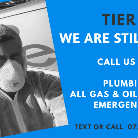 Tier 3 - we are fully operational for Plumbing & Heating in Cornwall