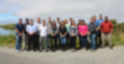 NorthPoint staff in front of Arcata marsh.