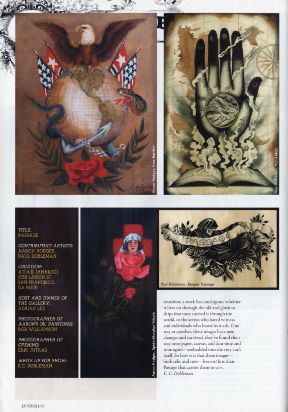TATTOO LIFE ISSUE #93 Pages 24 Article-
