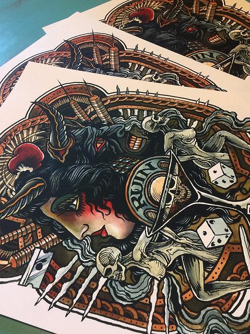 Theo Mindell- RUIN Print
