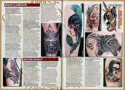 TATTOO LIFE #73 SM ARTICLE PAGE 70-71