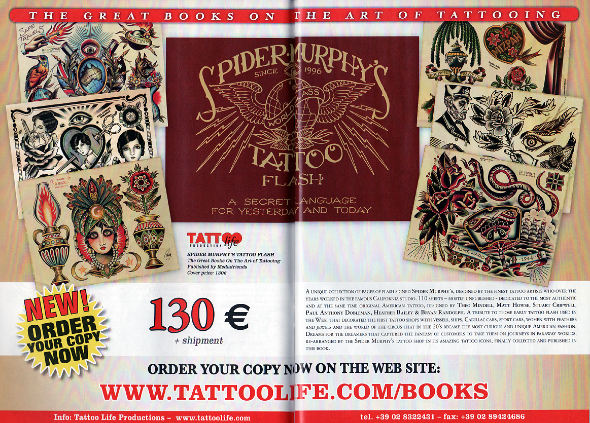 TATTOO LIFE ISSUE #73Pages 20-21 _THE GREAT BOOK ON THE ART OF TATTOOING._