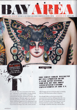 TATTOO LIFE ISSUE #93 Pages 44,46 Article-