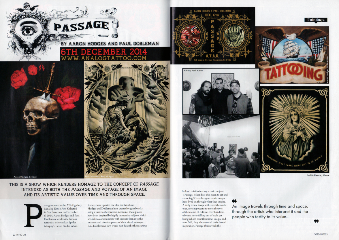 TATTOO LIFE ISSUE #93 Pages 22-23 Article-