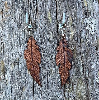 Medium Leather Feather