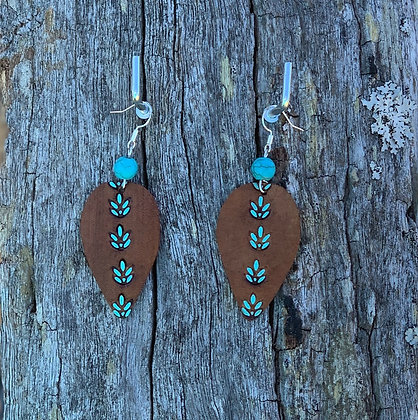 Turquoise Howlite Drops Large