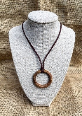 Timber Ring Necklace