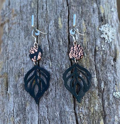 Copper Flake Black Leaf Drops