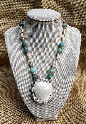 Mint Burr Necklace