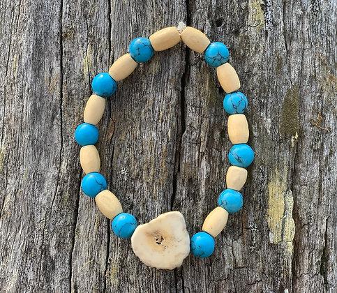 Antler Turquoise Howlite Bracelet