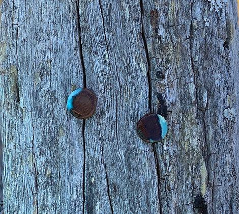 Small Blue Ice Swirl Rounds Tallowwood