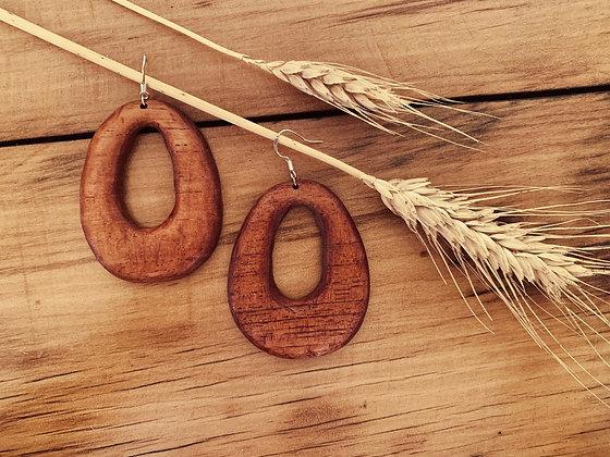 Bold Hoops Red Cedar
