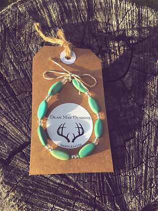 Oval Turquoise Magnesite Bracelet