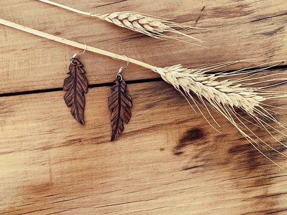 Small Leather Feather