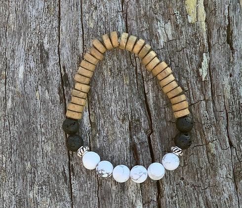 Howlite Diffuser Bracelet