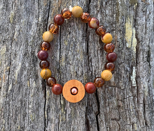 Crows Ash & Mookaite Bracelet
