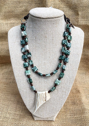 White Point Tree Agate Necklace