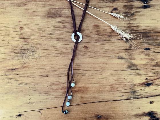 Antler Slice Choker Necklace