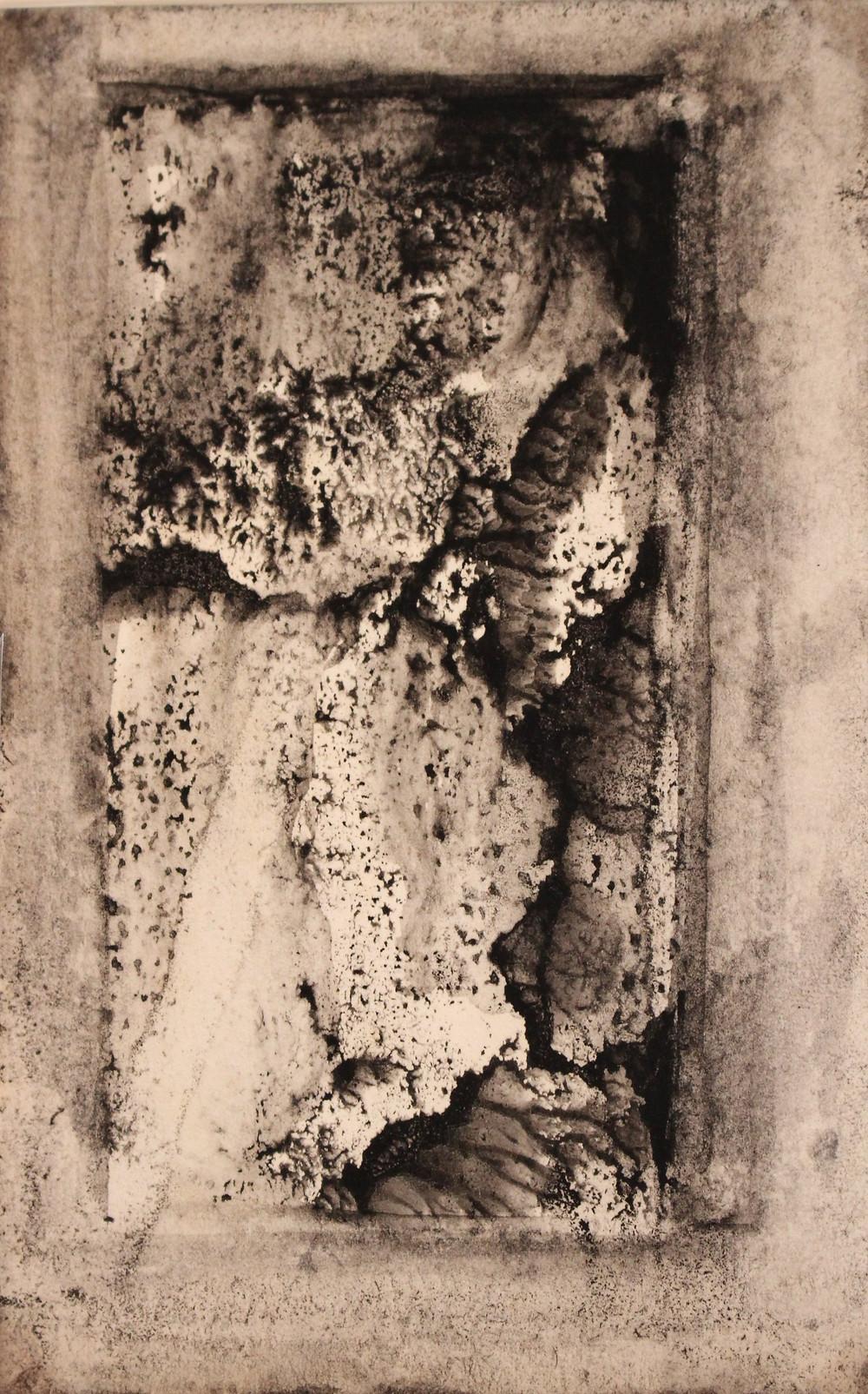 デカルコマニー・紙(郵便はがき)14.1×9cm