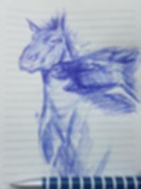 Liz H  Lovell Horse sketch study