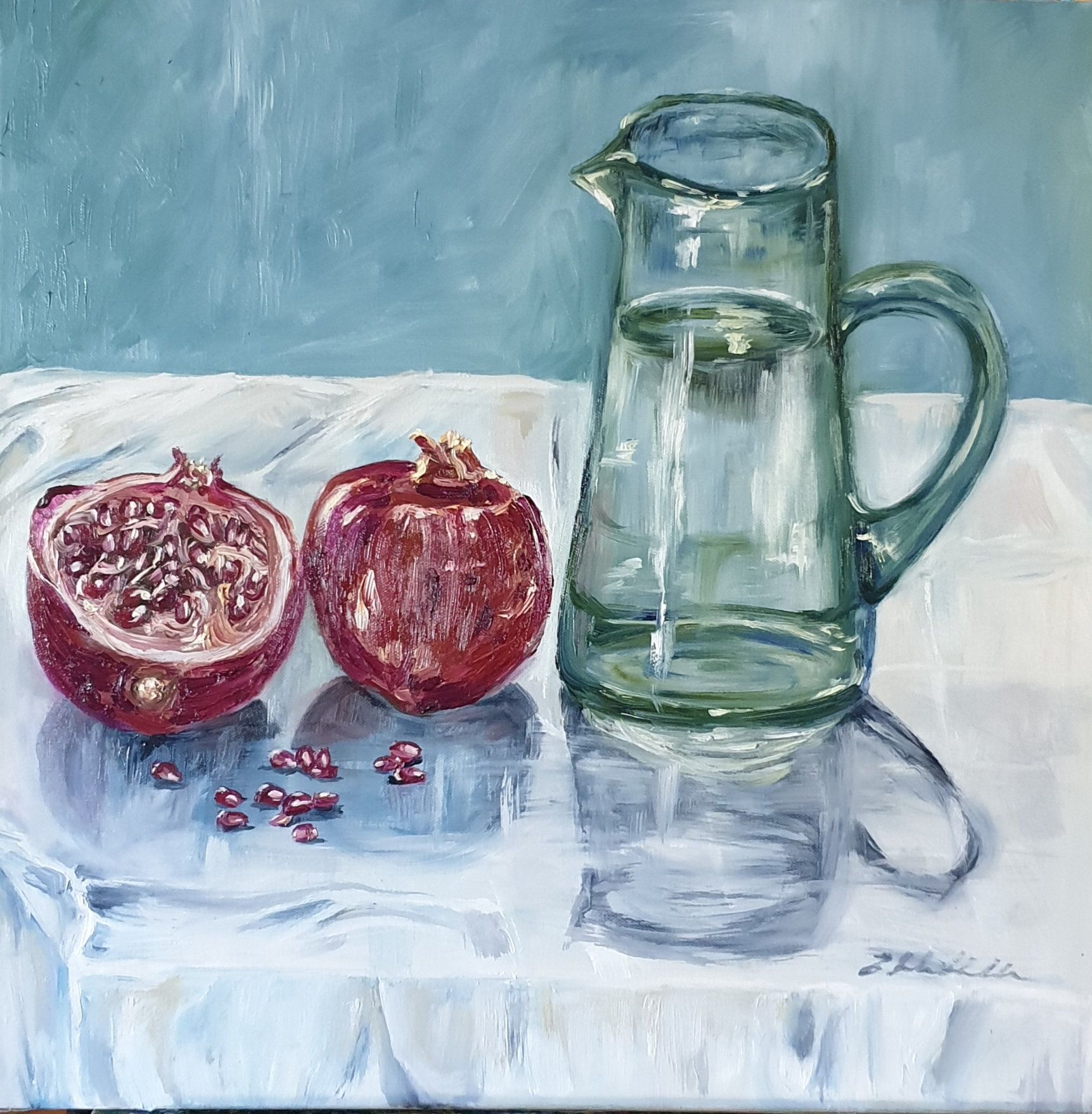 Pomegranates and Water jug