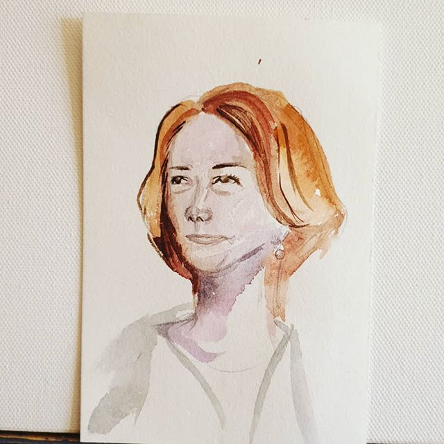 Another quick watercolour portrait...