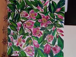 Port Wine Magnolias - SOLD