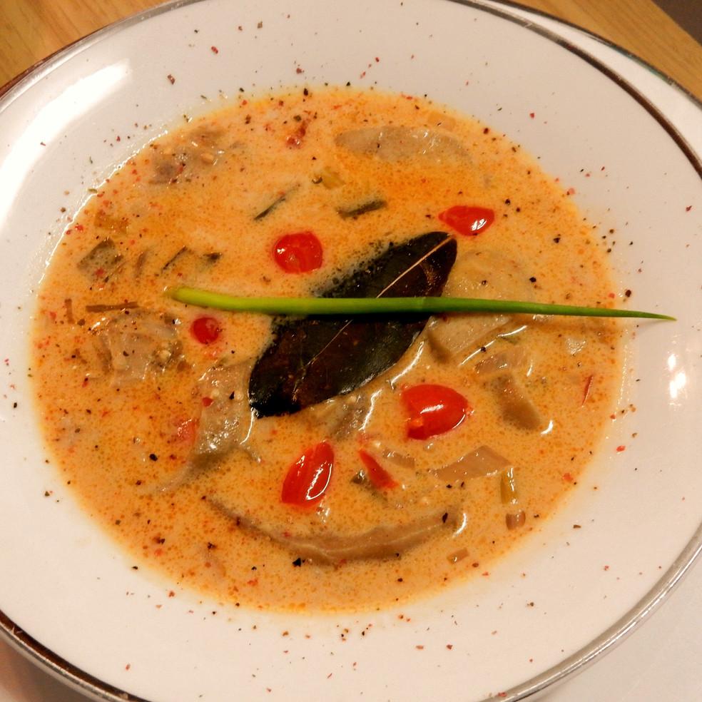 Coconut-ginger Eggplant Soup