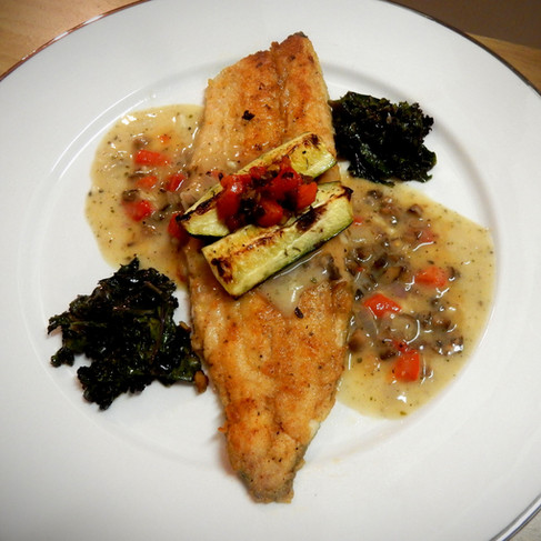 Filet of Trout in Vegatable Picadillo Sauce