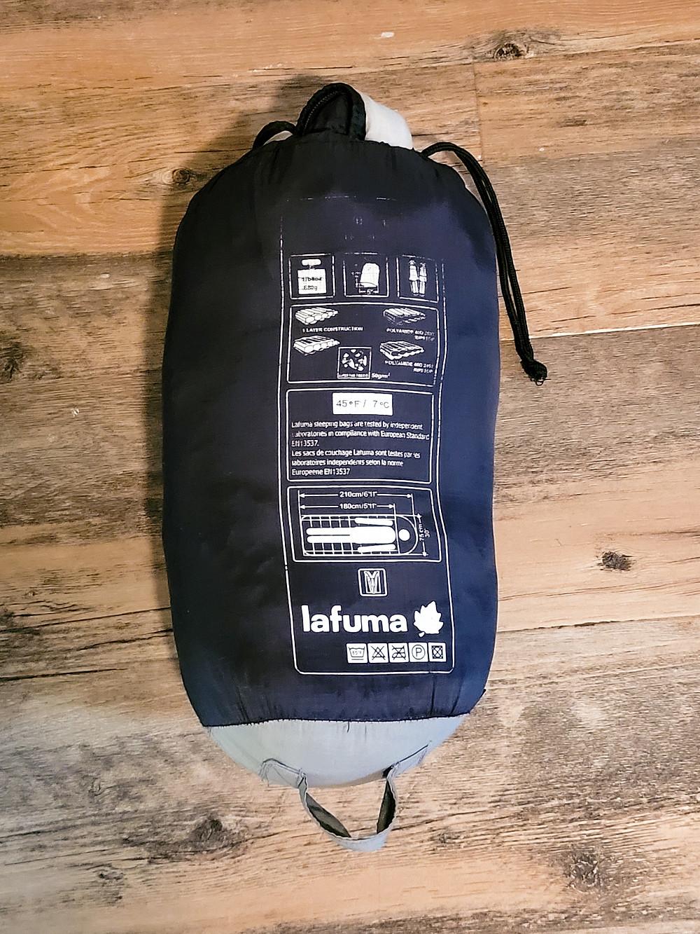 Backpacking, travel, travel gear, travel tips, sleeping bag, Lafuma