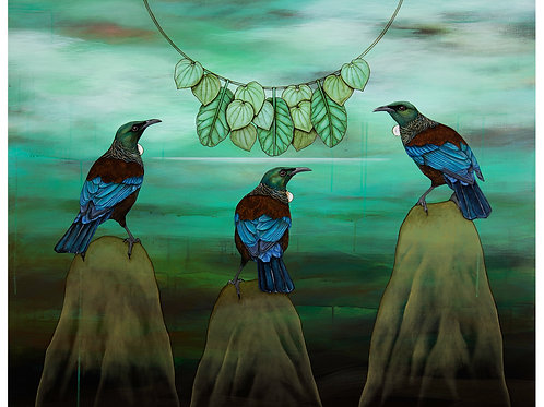 Tui and the Kawakawa Necklace Giclee