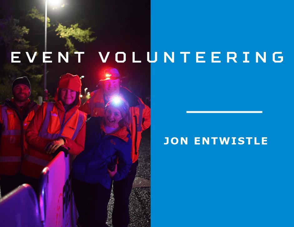 Volunteers at the Illuminator Night Trail Race