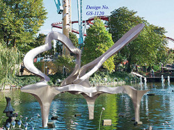 Stainless-Steel fountain sculpture