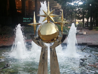 Stainless-Steel fountain sculpture