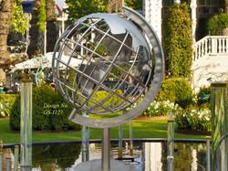 Stainless-Steel globe sculpture