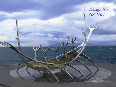 Stainless-Steel animal sculpture