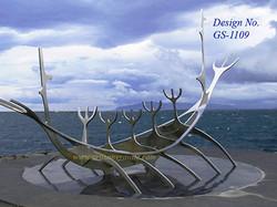 Stainless-Steel animal sculpture