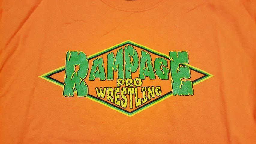 Rampage Pro Wrestling T-SHIRT   LARGE