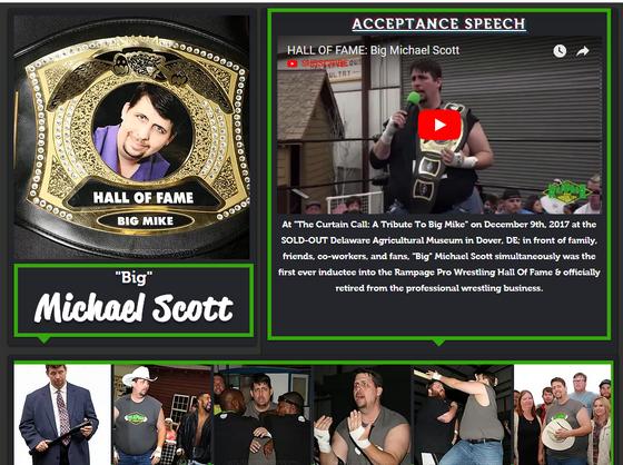 HALL OF FAME: Big Michael Scott
