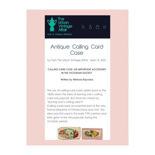 CALLING CARD CASE - Blog Post for The Urban Vintage Affair