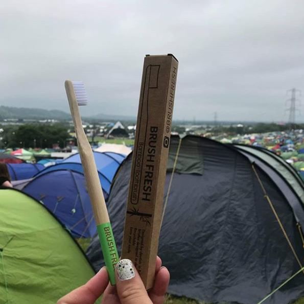 BrushFresh Eco Friendly Toothbrush at Glastonbury