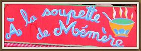 Enseigne de la Soupette de Mémère peinte à la main
