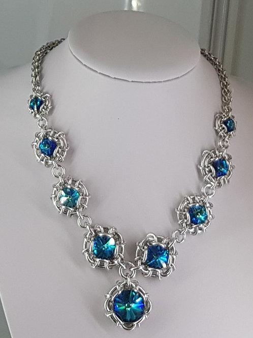 Swarovski Crystal Statement  Necklace
