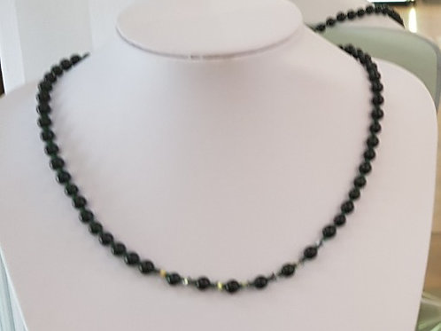 Green Goldstone necklace