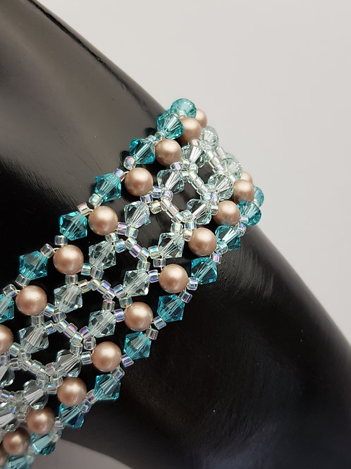 Katherine in Turquoise Swarovski Crystals